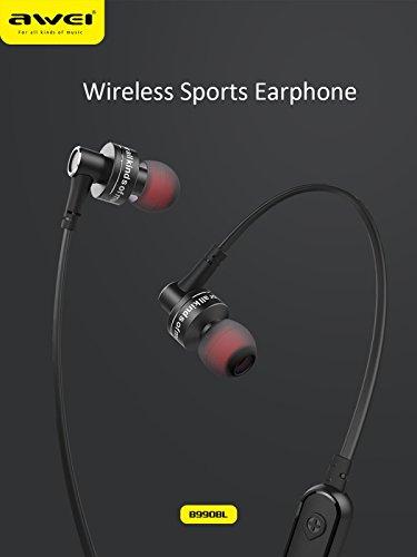 5dd749397ee TECLUSIVE Awei B990BL Wireless Bluetooth Neckband: Amazon.in: Electronics