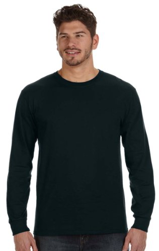 Anvil 784AN Ringspun Heavyweight Long-Sleeve T-Shirt - Black - (Anvil Heavyweight T-shirt)