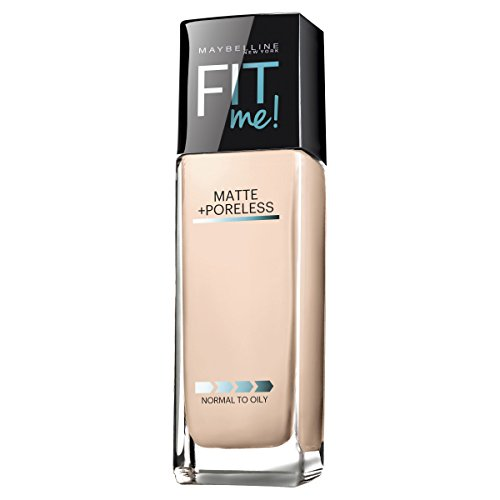 Maybelline Makeup Fit Me Matte + Poreless Liquid Foundation Makeup, Natural Ivory Shade, 1 fl oz
