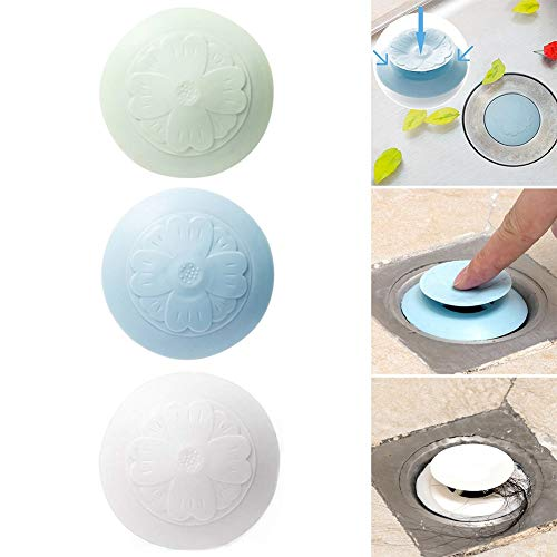 - Drain Stopper 2-in-1 Flower Popup Strainers Bathtub Plug Hair Catcher for Bathroom Kitchen Laundry (3 Pack)