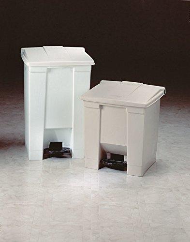 Cubo de basura HDPE Rubbermaid Step-On 6145 68,1 L Rectangular Polietileno de Alta Densidad 68,1 L, Rectangular, Polietileno de Alta Densidad Beige , Beige, Pedal, FM, UV, OSHA HDPE