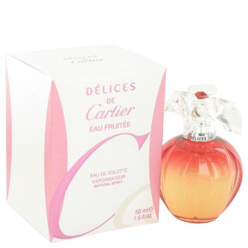 Delices De Cartier Eau Fruitee by Cartier Women's Eau De Toilette Spray 1.6 oz - 100% Authentic Delices De Cartier Eau Fruitee