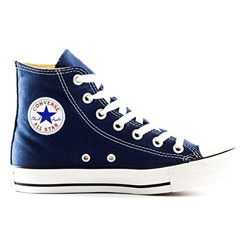 c6785cfb81d52d ... Converse Chuck Taylor All Star Hi Topp Navy Canvas Sko Med Ekstra Par  Sorte Blonder Menns ...
