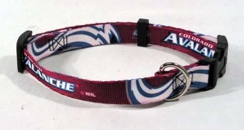 NHL Colorado Avalanche Adjustable Pet Collar, Team Color, Medium