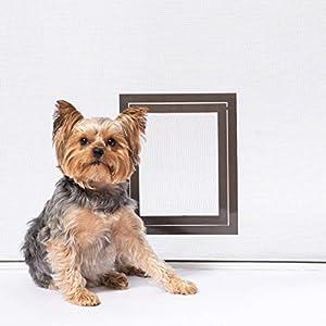 PetSafe Pet Screen Door – Small Dog and Cat Door for Screen Door, Window and Porch Use