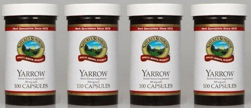 Naturessunshine Yarrow soutient système digestif 300 mg 100 gélules (pack de 4)