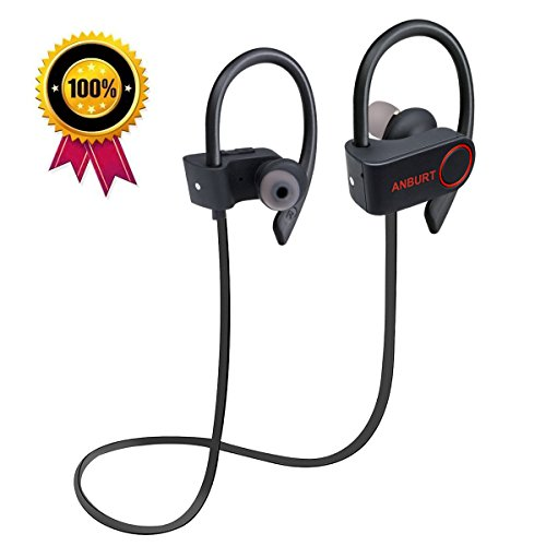 Anburt Wireless Best Bluetooth Headphones, Wireless Sports Headphones,Best bluetooth Earbuds Waterproof HD Stereo headsets, Noise Cancelling earphones for Running Gym (Best Stereo Bluetooth Headset)