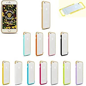 DD DIY Gold Color and Solid Color Combination Design Bumper Frame Case for iPhone 6 (Assorted Colors) , 4