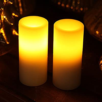 Led Votive Candle,Home Impressions Flameless Wax Candle With Timer,Wedding Decor,Pray Candle,Battery-Operated
