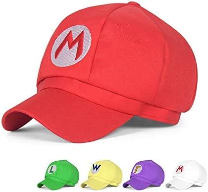 FENGHU Mario Hut 2 St/ück//Los Luigi Bros Stoff Kuppel Hut Baseball Cap Jungen M/ädchen Cosplay Zubeh/ör