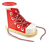 Melissa & Doug Deluxe Wood Lacing Sneaker (Learn to Tie a Shoe Educational Toy, Encourages Independence)