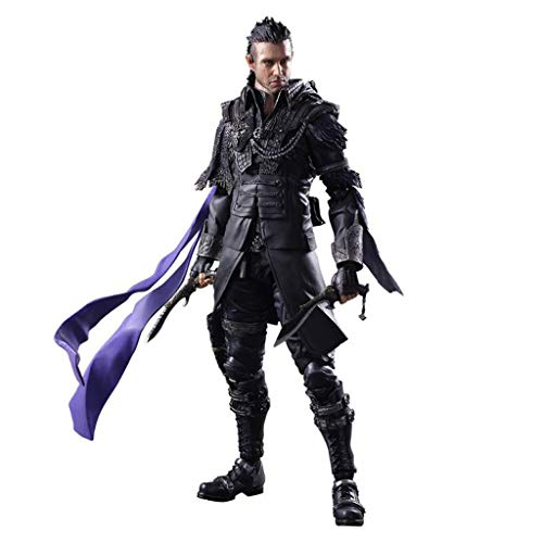 Siyushop Kingsglaive Final Fantasy XV Nyx Ulric Play Arts Kai Action Figure - Equipped with Weapons, Helmets and Replaceable Hands - High 26CM (Best Final Fantasy 15 Weapons)