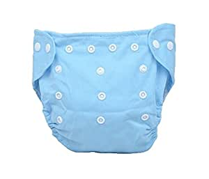 HOSdog Press Button Adjustment Washable Baby Cloth Diapers,Blue
