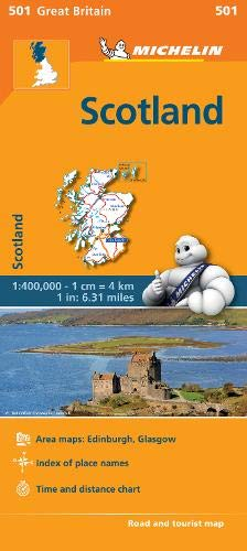 Map 501.Scotland Michelin Regional Map 501 Michelin Regional Maps