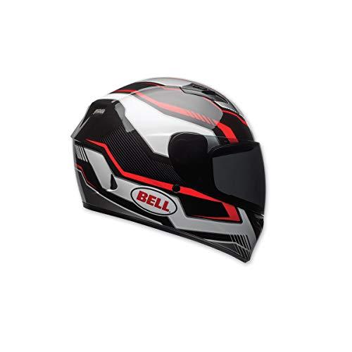 Bell Qualifier Full-Face Motorcycle Helmet (Gloss Black/Red/White Torque, Medium) - Bell Racing