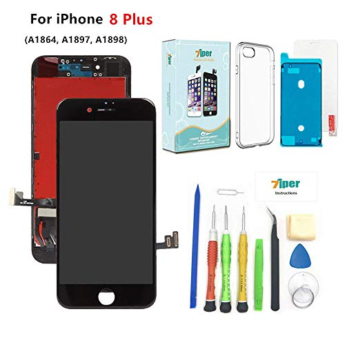 - Screen Replacement for iPhone 8 Plus (5.5 inch) - 3D Touch LCD Complete Repair Kits -LCD Touch Digitizer Display Glass Replacement -Free Cover,Tempered Glass, Tools, Instruction (Black)