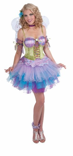 Woman's Fantasy Fairies, Daydream Costume, Pink/Blue/Purple, One Size