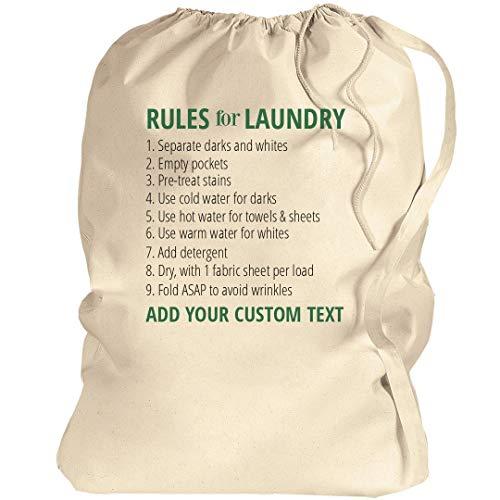 Custom Laundry Bag Instructions: Canvas Laundry Bag