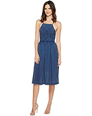 Womens Schiffli Bib Dress
