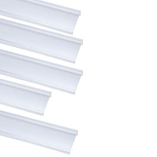 LightingWill LED Aluminum Channel Transparent Cover for U03 U04 U05 U06 Style 1M/3.3ft 5 Pack by LightingWill (Image #2)