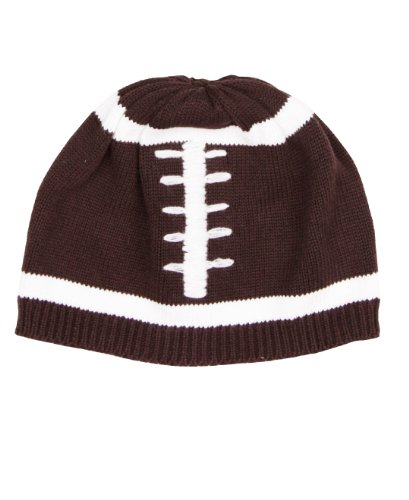 RuggedButts Baby/Toddler Boys Baby Boy Football Beanie - 0-6m Brown/White