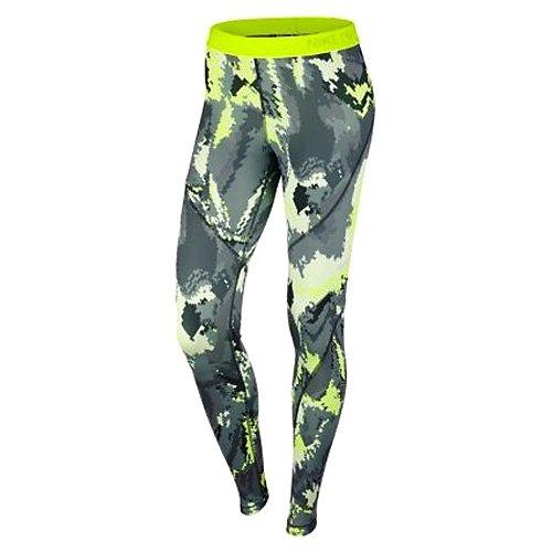 Nike W Np Hprwm Tght Oil Glitch - Mallas para mujer verde - (seaweed/hasta/white)