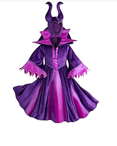Maleficent Girls Costumes (Disney Store Deluxe Maleficent Halloween Costume Descendants Sleeping Beauty (S Small 5-6))