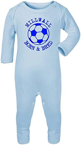 Hat-Trick Designs Millwall Football Baby Romper Sleep Suit-Choice of 11 Colours-Born /& Bred-Unisex Gift