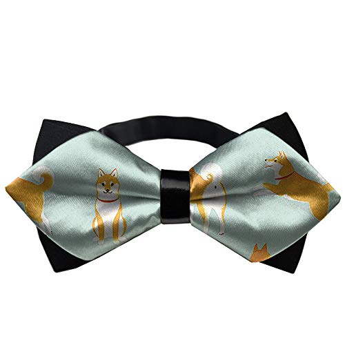 JZDACH Men's Pre Tied Bow Ties for Wedding Party Adjustable Bowties Japanese Akita Dog