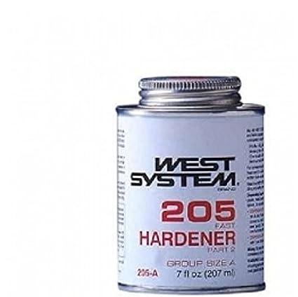 Nuevo sistema de West epoxi 205 A rápido endurecedor