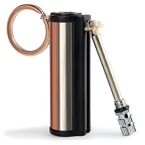 Meanhoo Survival Camping Hiking Emergency Fire Starter Flint Match Lighter KeyChain