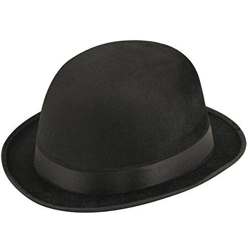 Black Velour Bowler Hat - BLACK VELOUR BOWLER HAT by Henbrandt