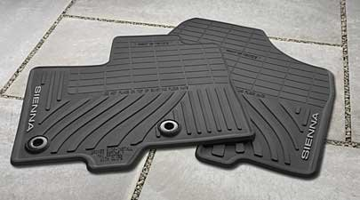 2014 Sienna All-Weather Floor Mats (Color: Black)