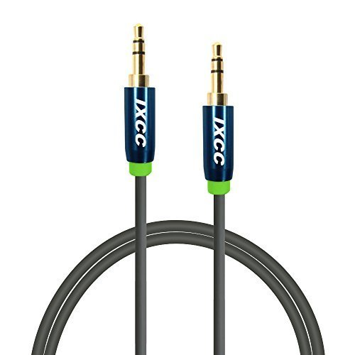 iXCC 3-Ft Tangle-Free Male to Male 3.5mm Auxiliary Cable with Gold Plated Connectors for Apple, Android Smartphones, Tablet and MP3 Players – Standard Packaging