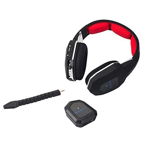 HAMSWAN 2,4 gHz inalámbrico auriculares Gaming para XBOX 360 (última versión)/Xbox One/PS3/PS4 (no incluido PS4 Slim) con micrófono desmontable batería ...