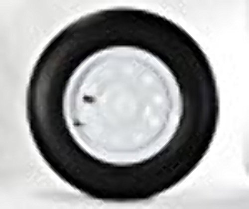 "14"" White Mod Trailer Wheel with Radial ST205/75R14 Tire Mounted (5x4.5) bolt circle primary"