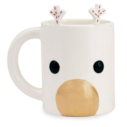 Mud Pie Gold Reindeer Mug