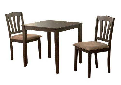 Amazon.com   Metropolitan 3 Piece Dining Set Finish: Espresso   Table U0026  Chair Sets