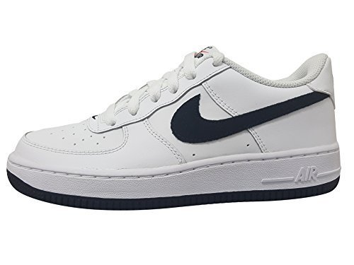 Nike Air Force 1 White/Black-Team Orange (GS) (4)