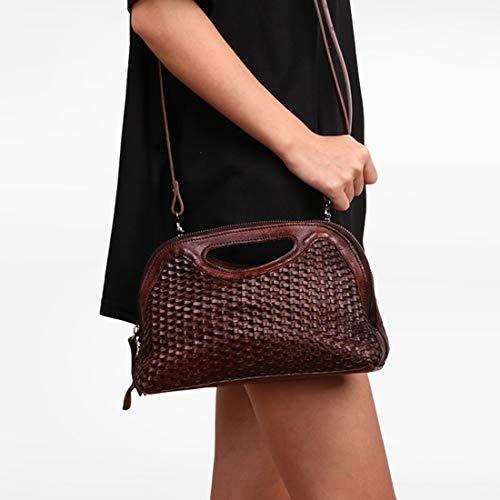 Style véritable Sac Color Les Brown de en Femmes pour Sac Cuir Vintage Brown bandoulière Voyage Main Fait à Main Tous Jours à bandoulière wRqpCrq0X