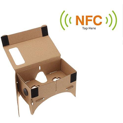 """Andoer DIY Google Cardboard Virtual reality VR Mobile Phone 3D Glasses with NFC Tag for iPhone Samsung HTC Moto X Nexus Cellphones for 4.5"""" Screen"""