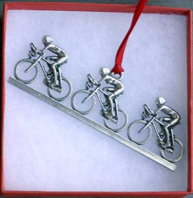 Dana Paige Designs Bicycle Ornament - Paceline (Ornament Bicycle Holiday)
