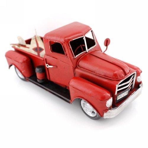 "Vintage Looking Antique 8"" Handcrafted Red Truck Vehicle Car Model from Jingbao Vehicles"