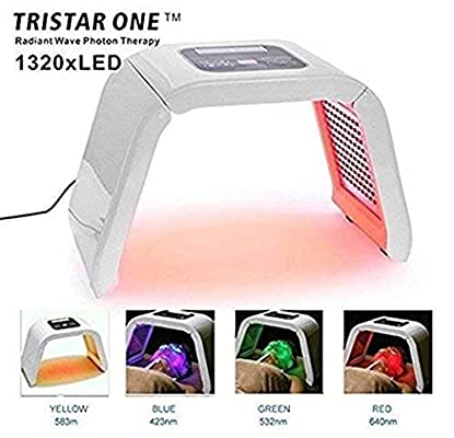 HydraskincarePro 4 Color LED Face Photon Red Light Therapy For Healthy Skin Rejuvenation Collagen