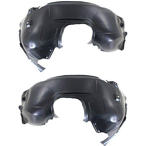 - Splash Shield Front Left and Right Side Fender Liner Set of 2 Plastic for Ford Focus 12-16 S/SE Models