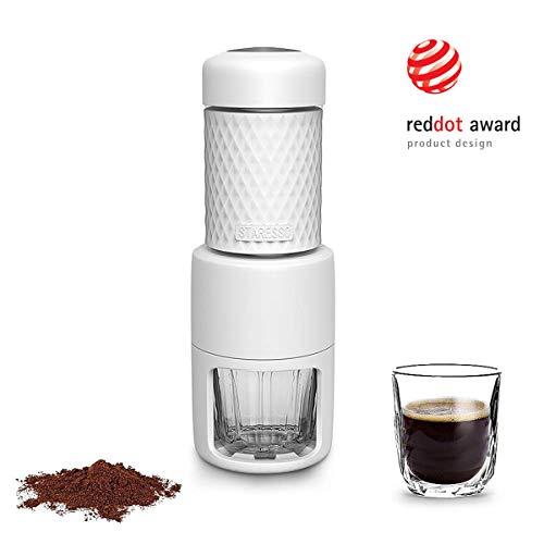 Staresso Coffee Maker with Espresso, Cappuccino, Quick Cold Brew All in One (White)