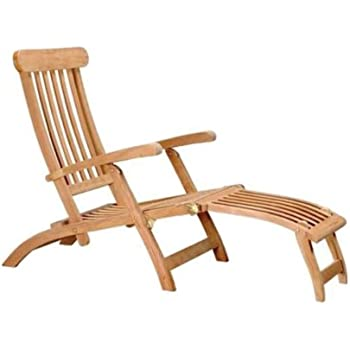 Home Accents Outdoor Patio Lawn Teak Steamer Chair