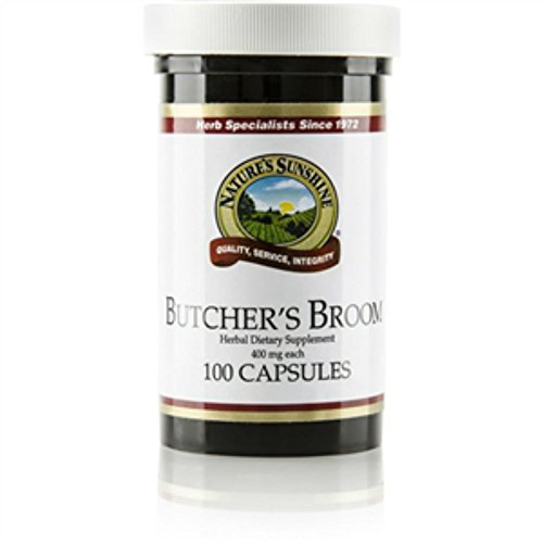 Nature's Sunshine Butcher's Broom 100 Capsules (Pack of 2)