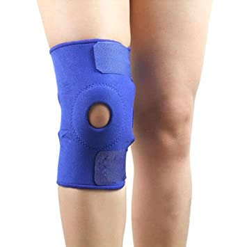 6446944926 Image Unavailable. Image not available for. Color: Hot Adjustable Patella  Black Elastic Knee Brace Fastener Support Guard Gym Sport ...