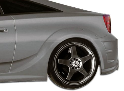 Duraflex Replacement for 2000-2005 Toyota Celica GT300 Wide Body Rear Fenders - 2 Piece